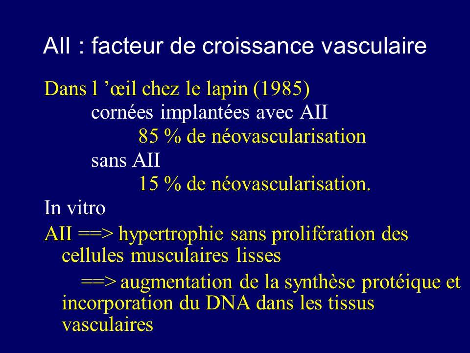 AII : facteur de croissance vasculaire