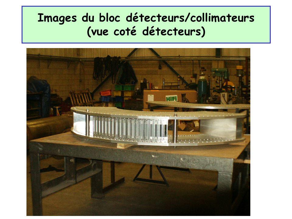 Images du bloc détecteurs/collimateurs (vue coté détecteurs)