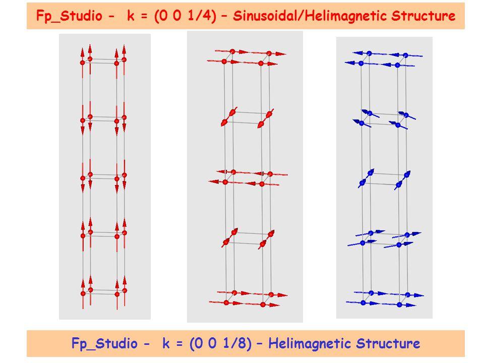 Fp_Studio - k = (0 0 1/4) – Sinusoidal/Helimagnetic Structure