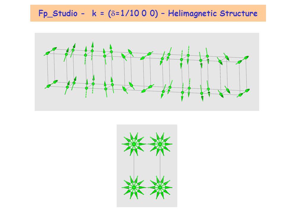 Fp_Studio - k = (d=1/10 0 0) – Helimagnetic Structure