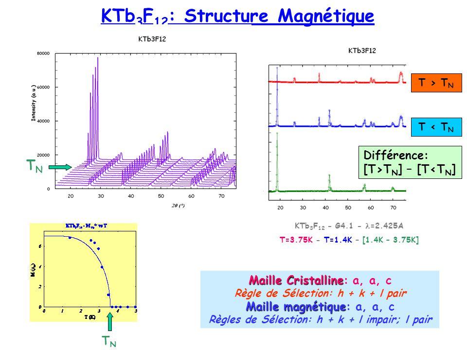 KTb3F12: Structure Magnétique