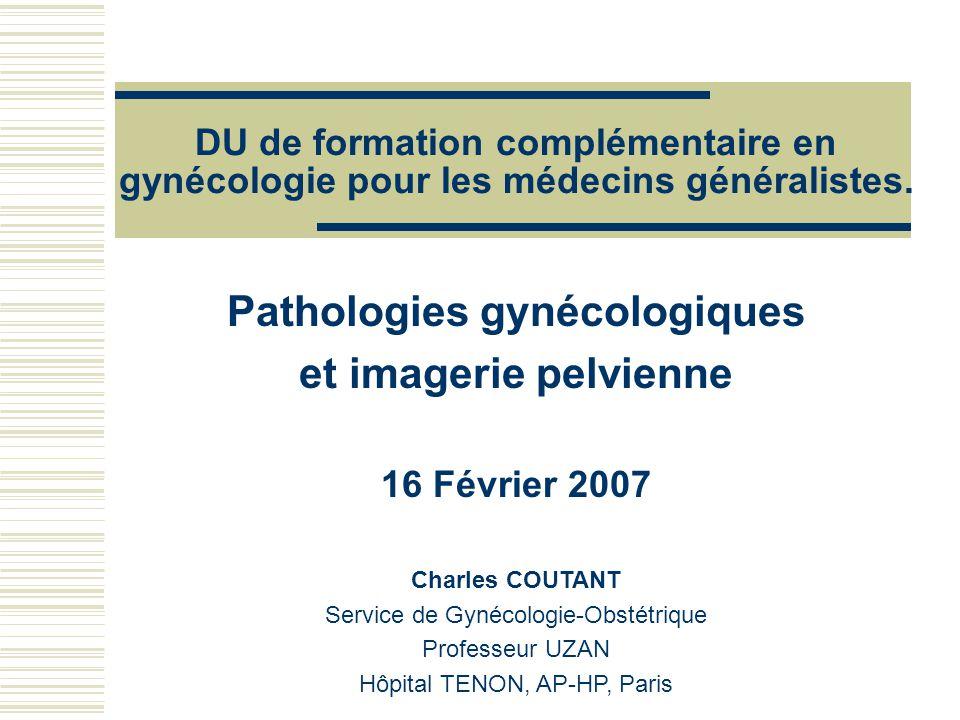 Pathologies gynécologiques