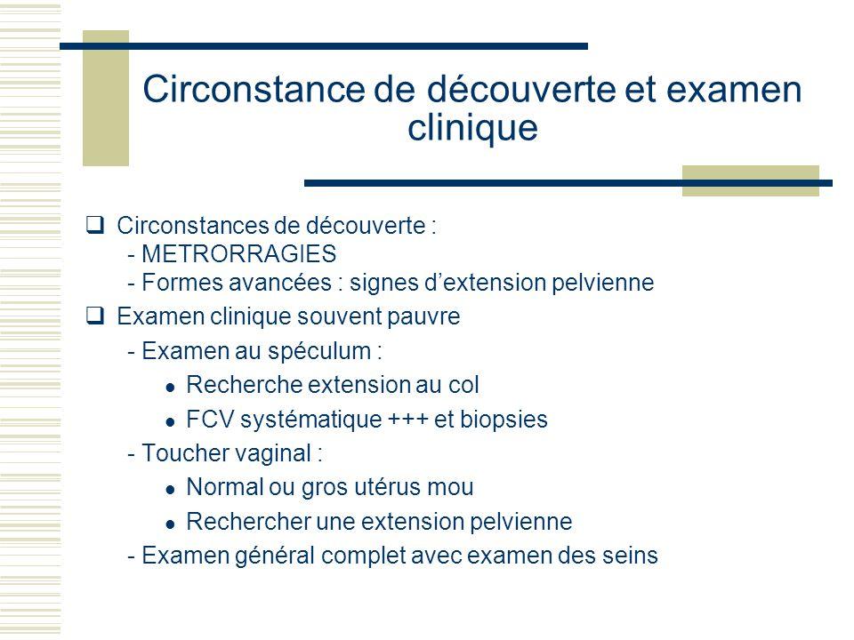 Circonstance de découverte et examen clinique
