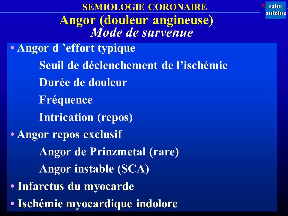 Angor (douleur angineuse)