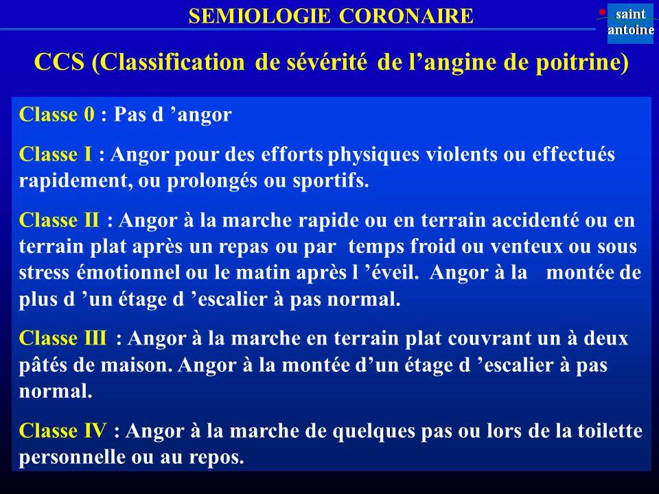 CCS (Classification de sévérité de l'angine de poitrine)