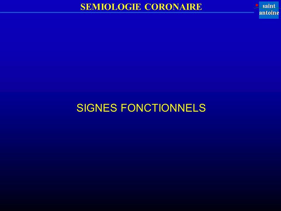 SIGNES FONCTIONNELS