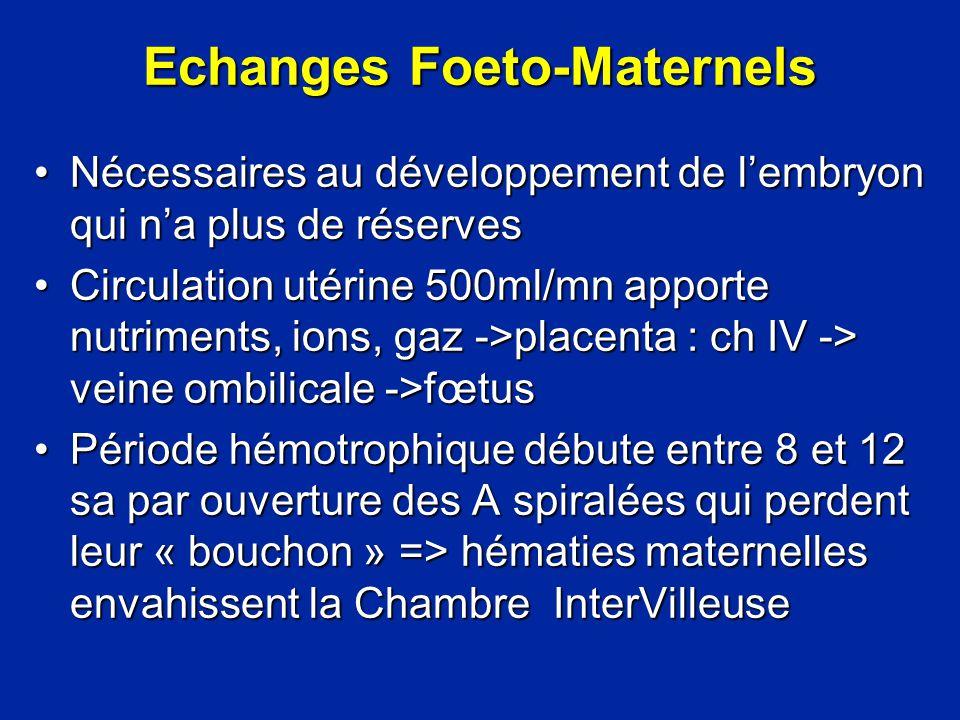 Echanges Foeto-Maternels