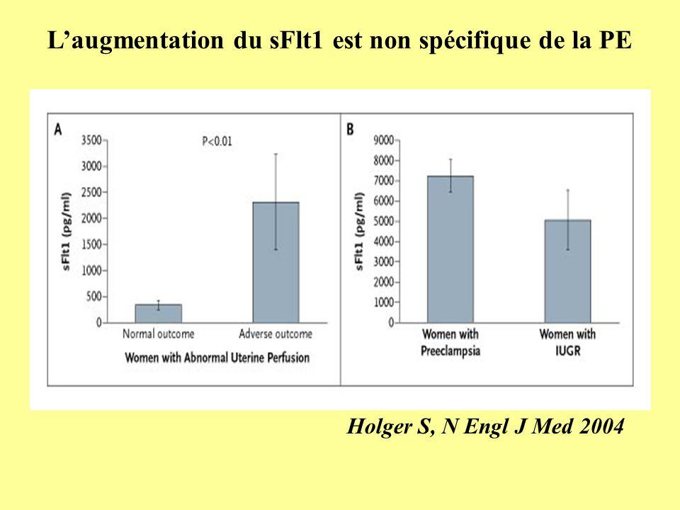 L'augmentation du sFlt1 est non spécifique de la PE