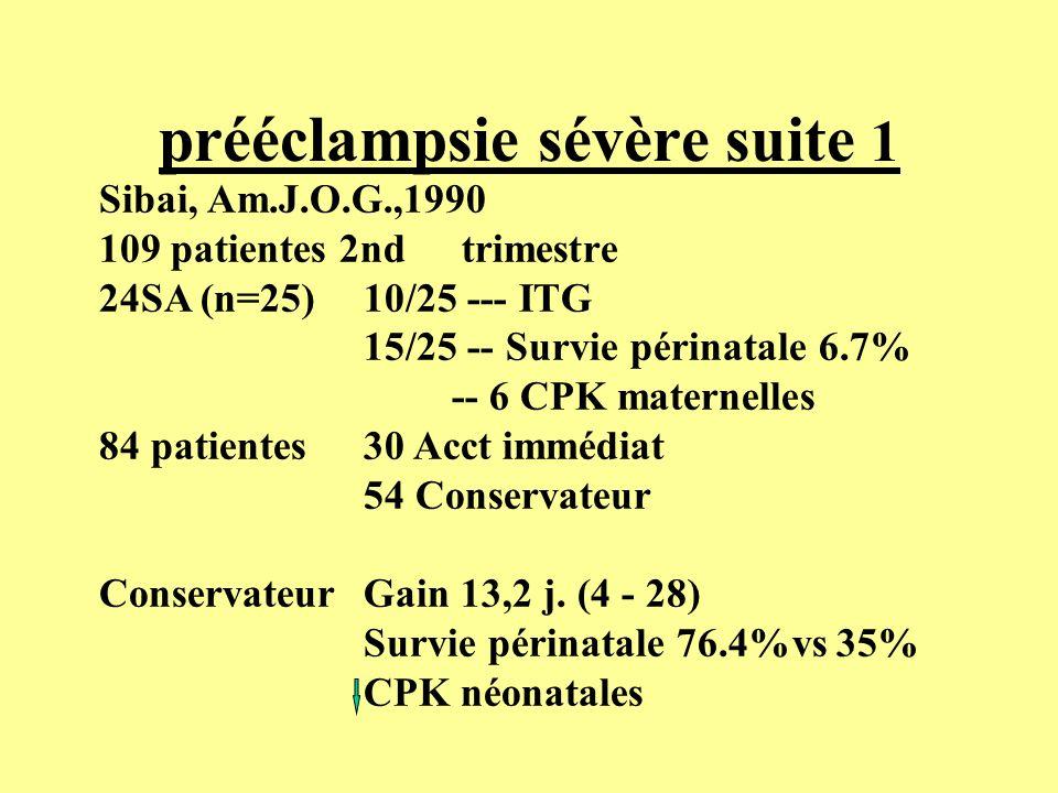 prééclampsie sévère suite 1