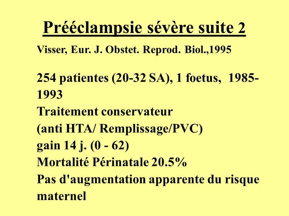 Prééclampsie sévère suite 2