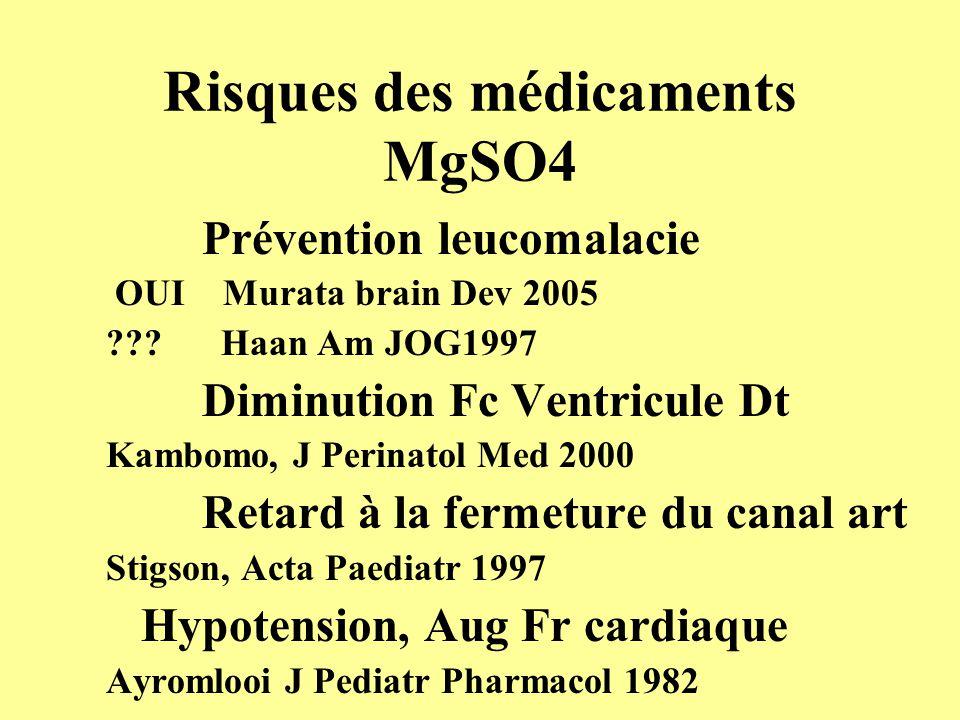 Risques des médicaments MgSO4
