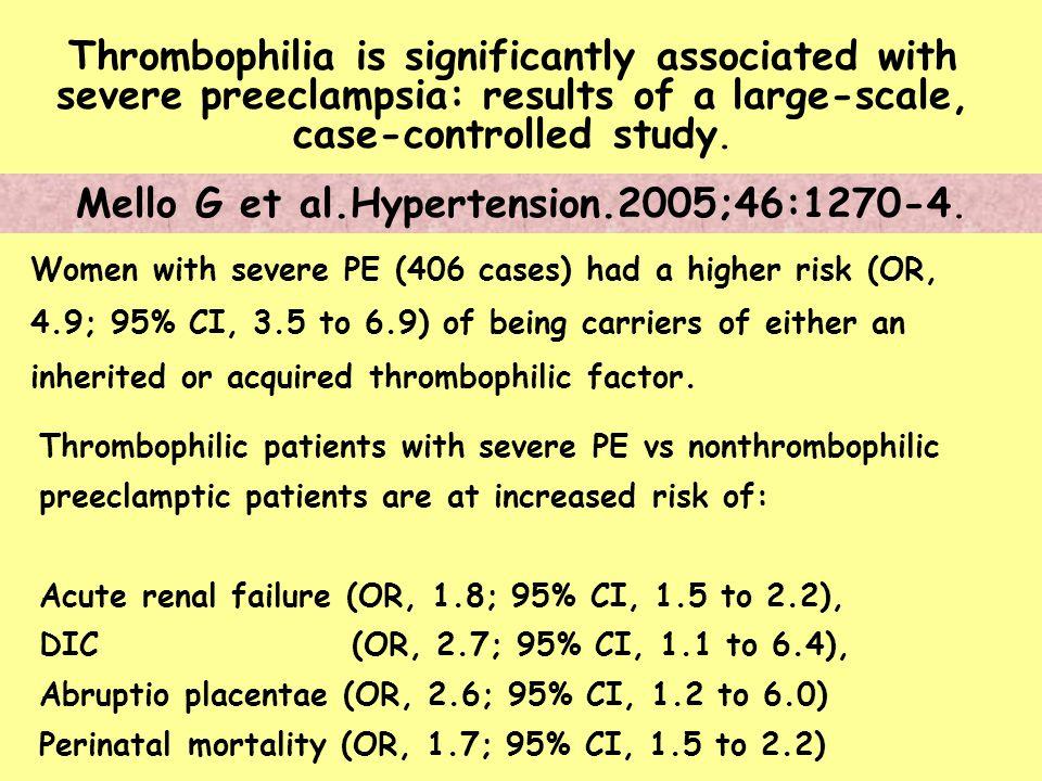 Mello G et al.Hypertension.2005;46:1270-4.