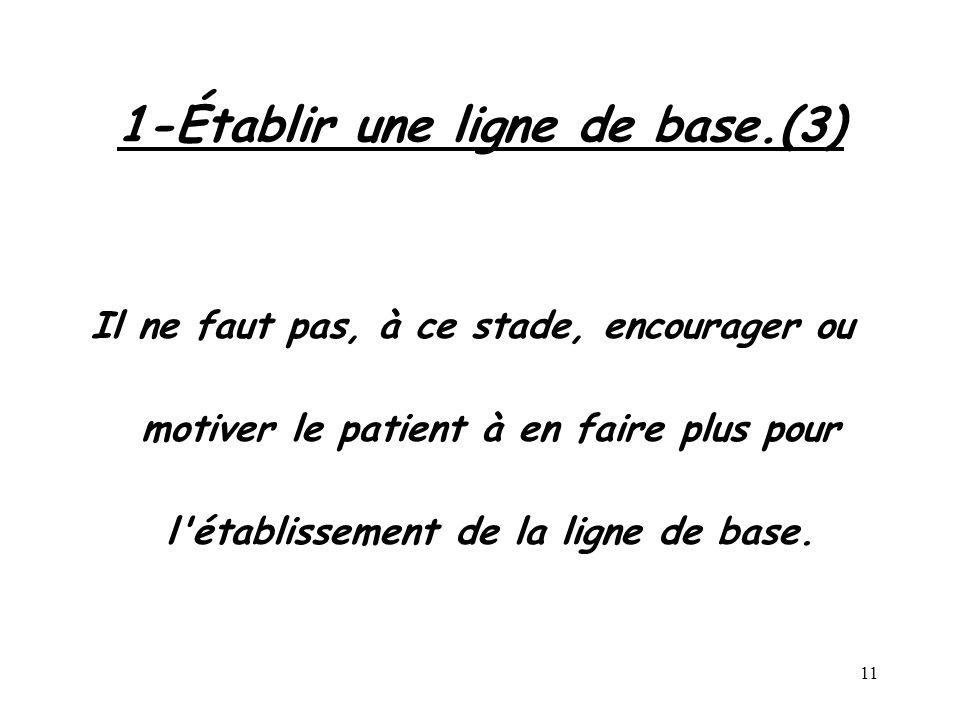 1-Établir une ligne de base.(3)