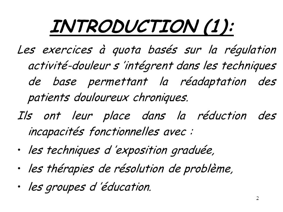 INTRODUCTION (1):
