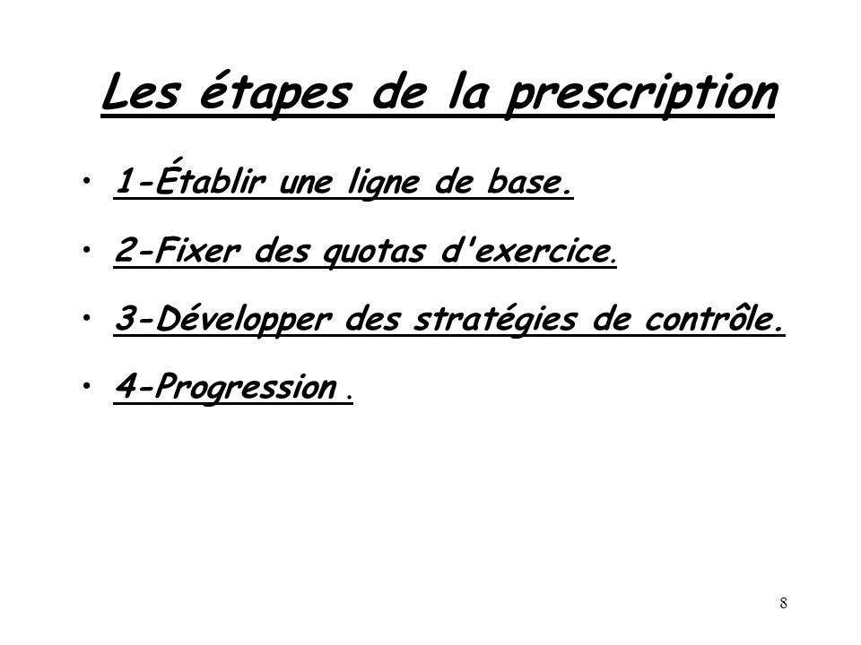 Les étapes de la prescription