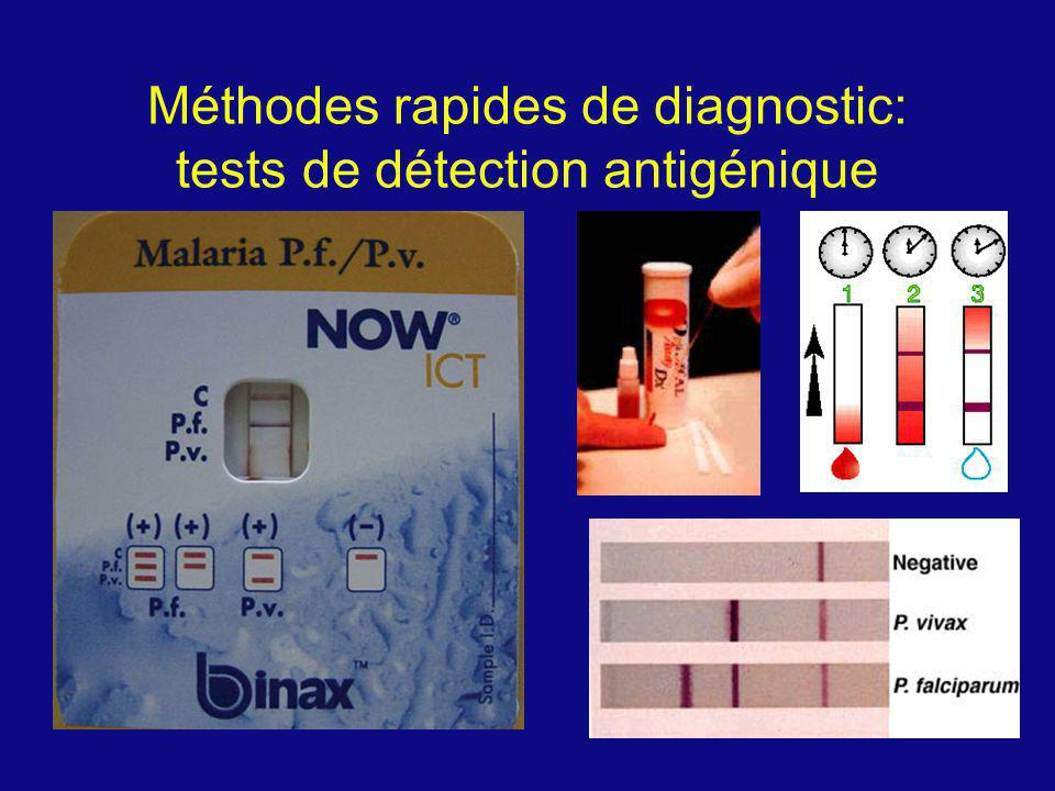 Méthodes rapides de diagnostic: tests de détection antigénique