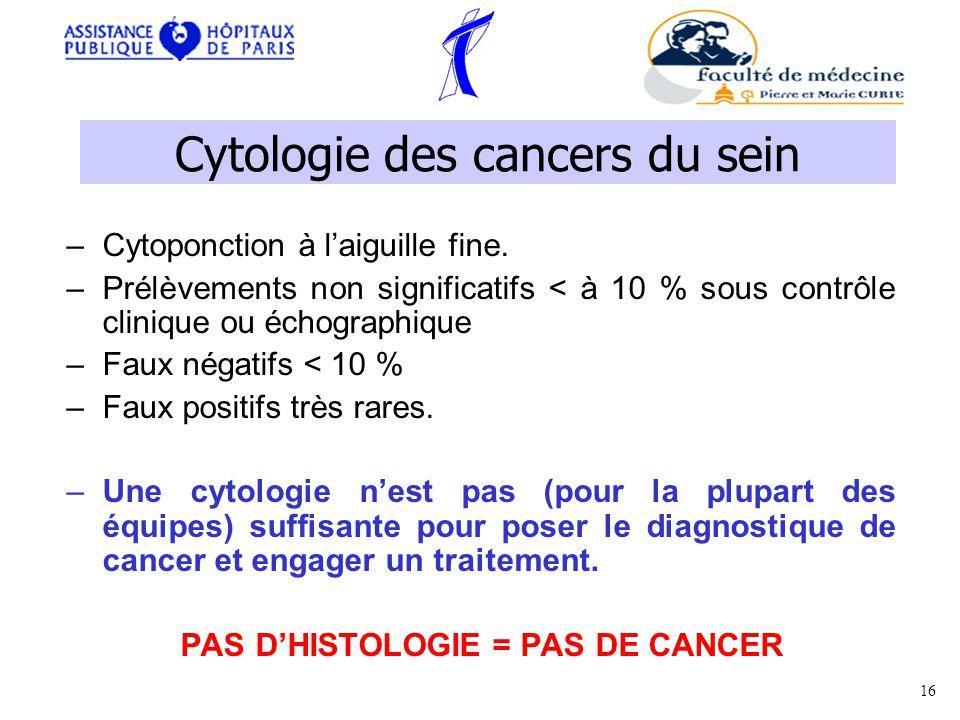 Cytologie des cancers du sein