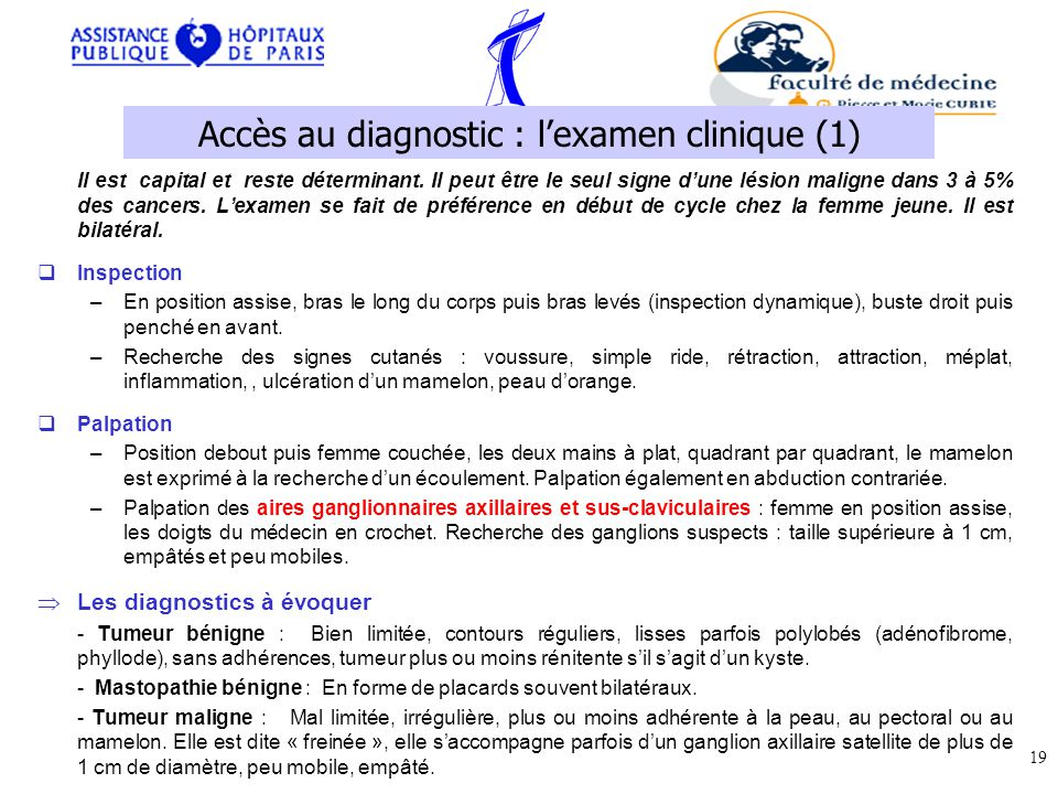 Accès au diagnostic : l'examen clinique (1)