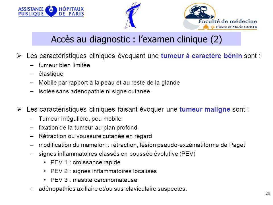 Accès au diagnostic : l'examen clinique (2)