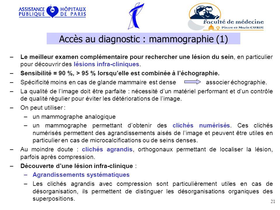 Accès au diagnostic : mammographie (1)