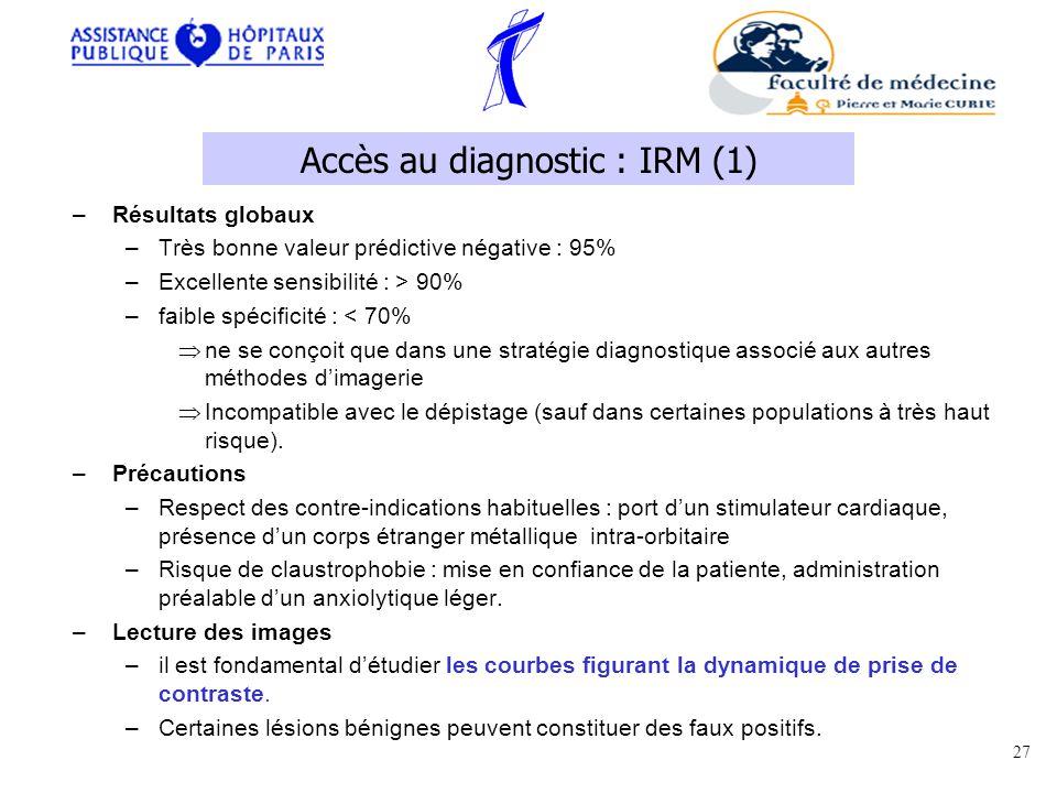 Accès au diagnostic : IRM (1)