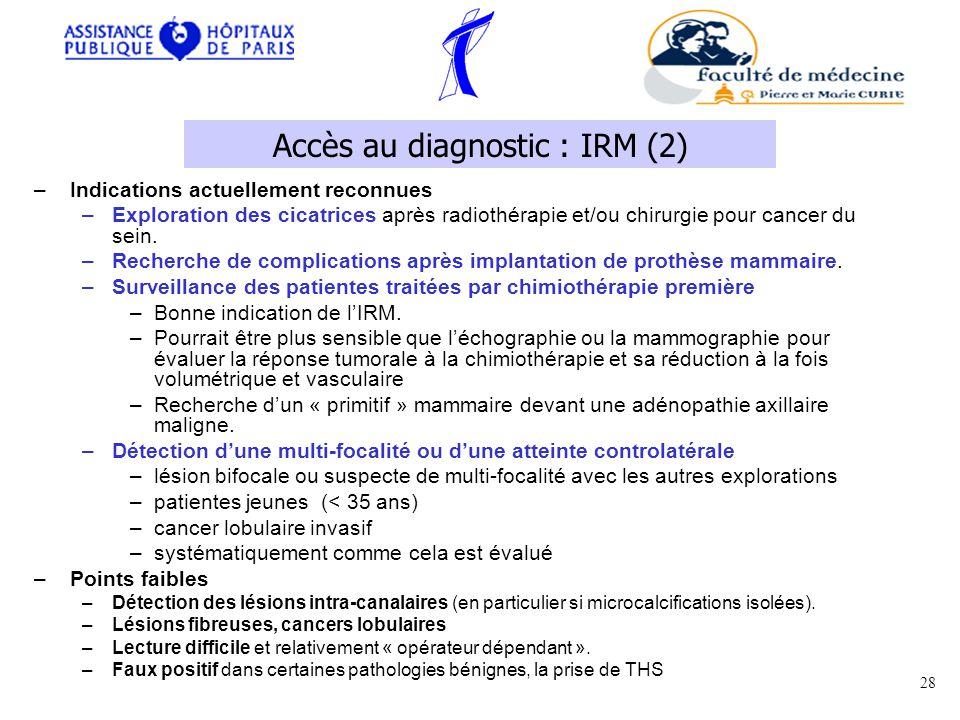 Accès au diagnostic : IRM (2)