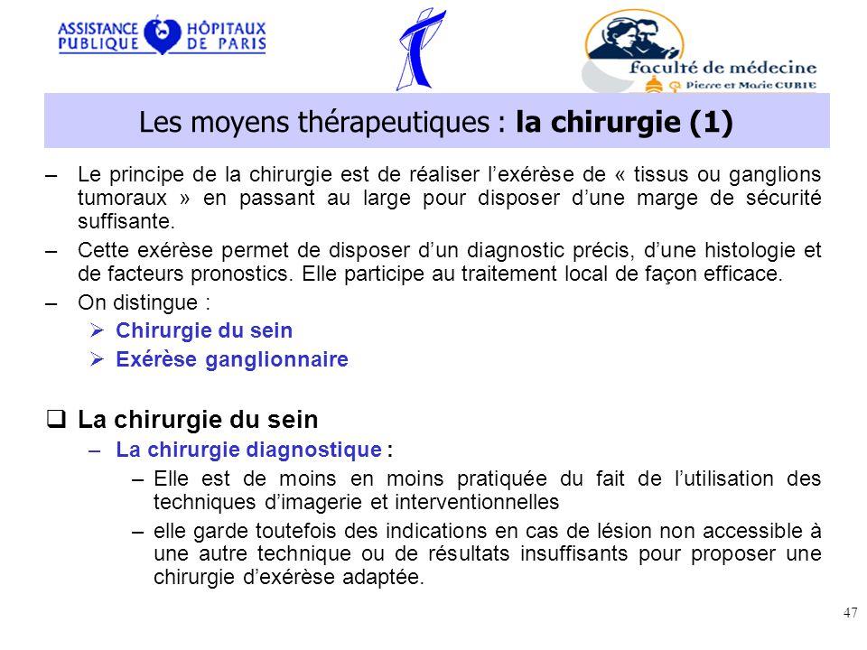 Les moyens thérapeutiques : la chirurgie (1)
