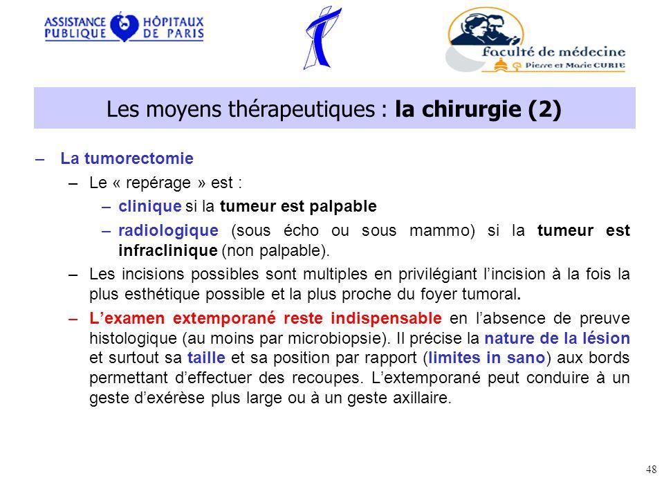 Les moyens thérapeutiques : la chirurgie (2)
