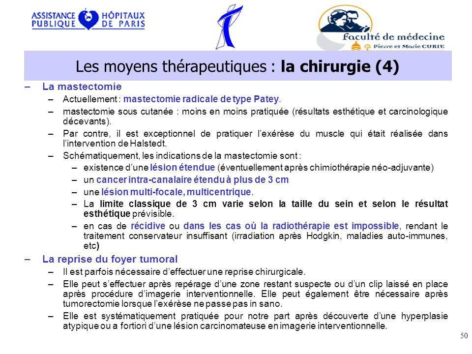 Les moyens thérapeutiques : la chirurgie (4)