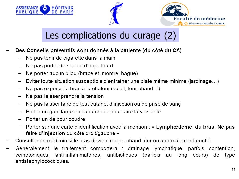 Les complications du curage (2)