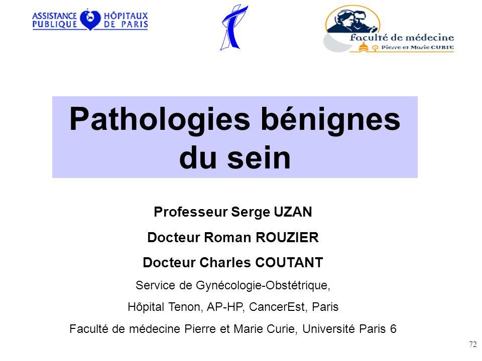 Pathologies bénignes du sein Docteur Charles COUTANT