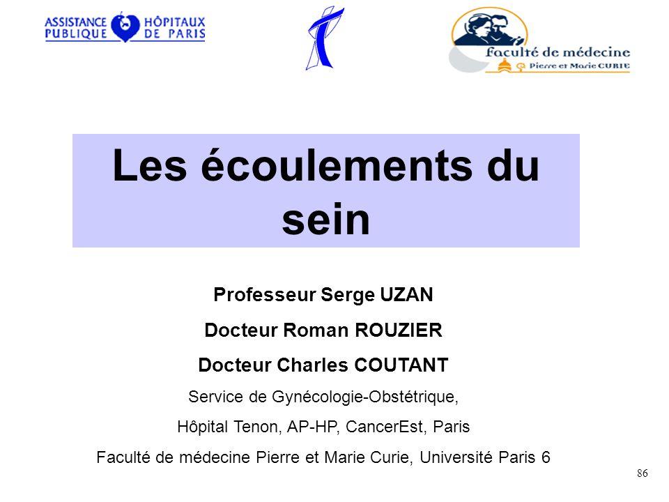 Les écoulements du sein Docteur Charles COUTANT