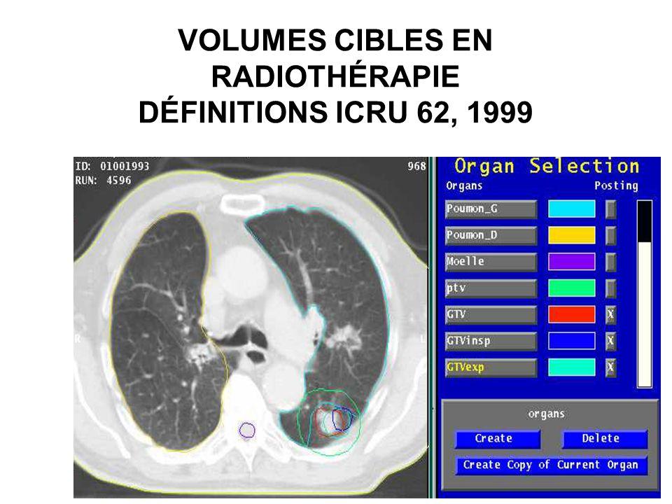 VOLUMES CIBLES EN RADIOTHÉRAPIE DÉFINITIONS ICRU 62, 1999