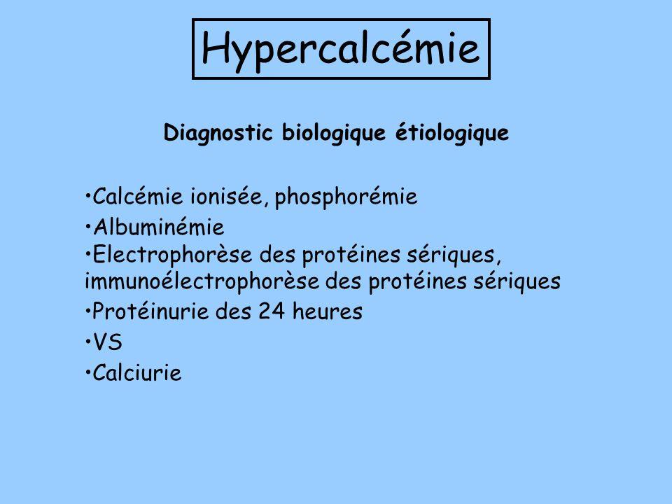 Hypercalcémie Diagnostic biologique étiologique