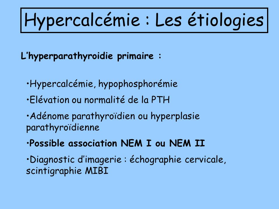 Hypercalcémie : Les étiologies