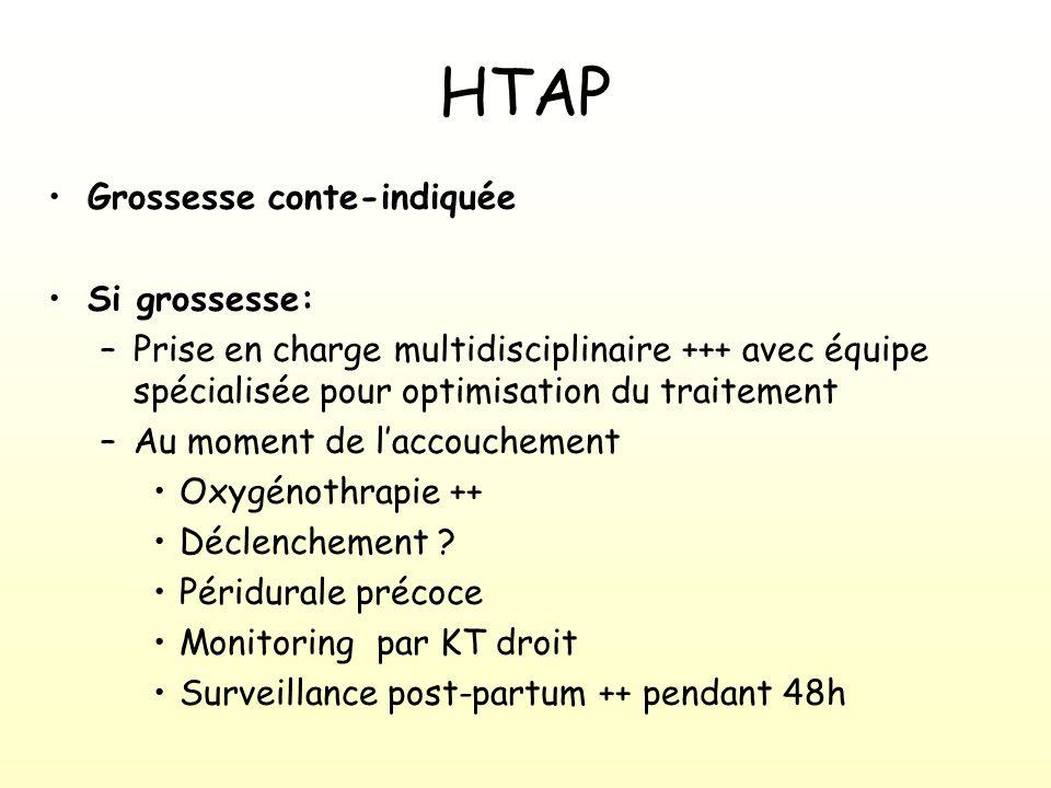 HTAP Grossesse conte-indiquée Si grossesse: