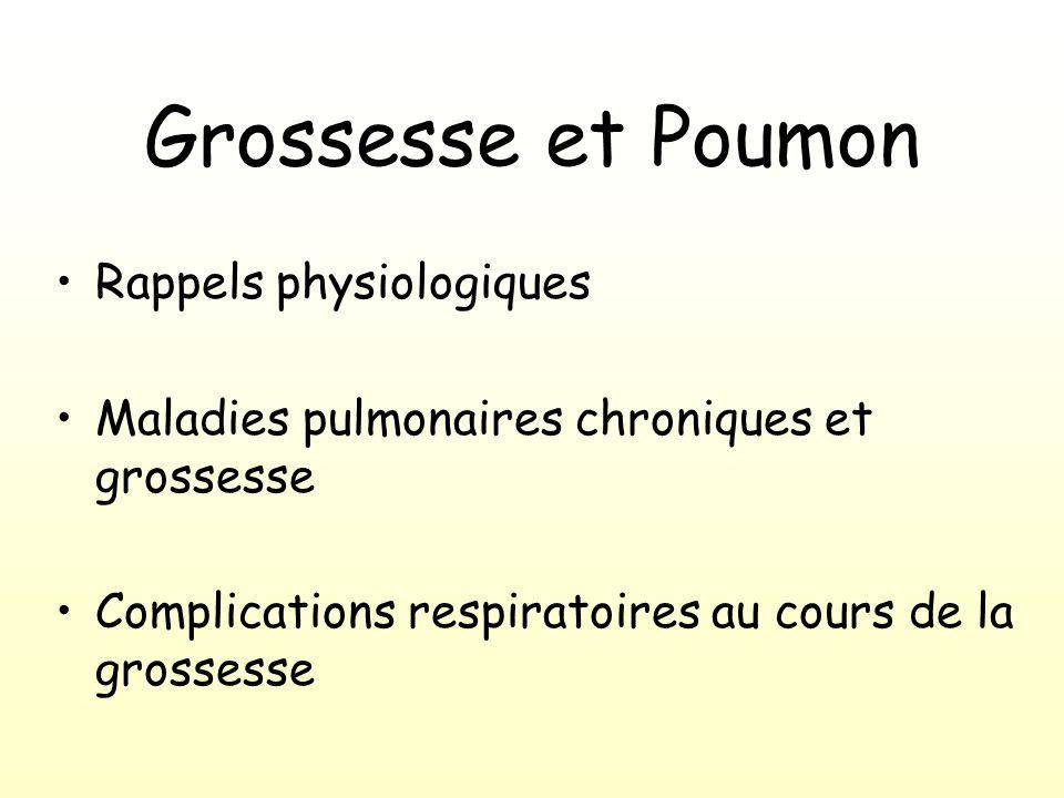 Grossesse et Poumon Rappels physiologiques