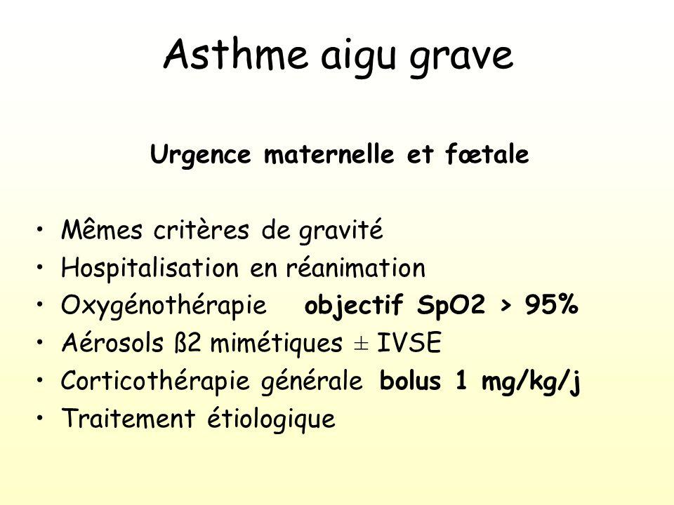Urgence maternelle et fœtale