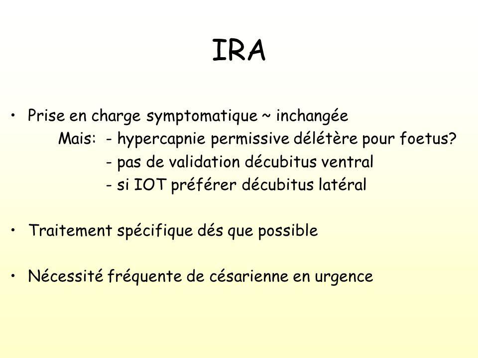 IRA Prise en charge symptomatique ~ inchangée