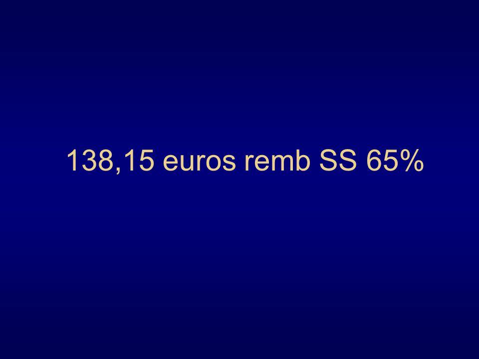 138,15 euros remb SS 65%