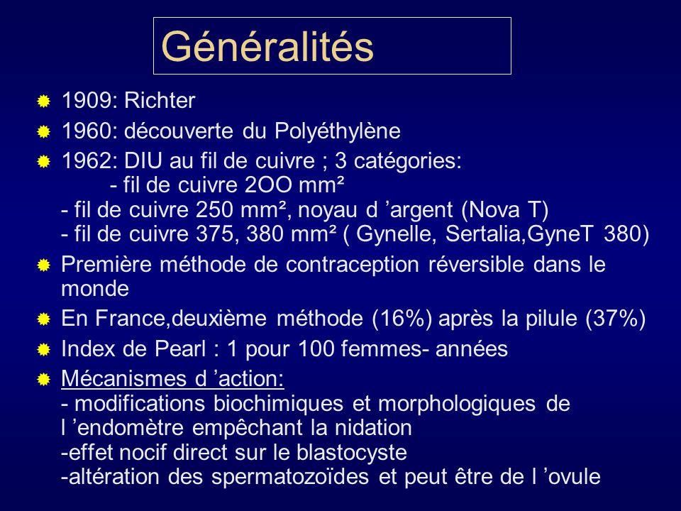 Généralités 1909: Richter 1960: découverte du Polyéthylène