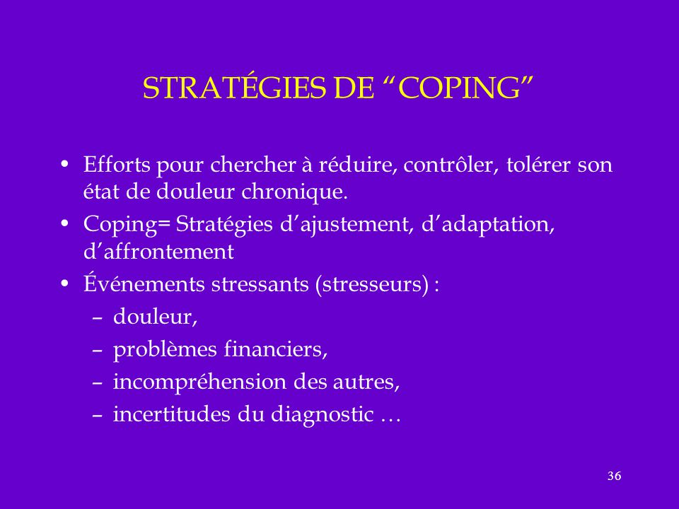 STRATÉGIES DE COPING