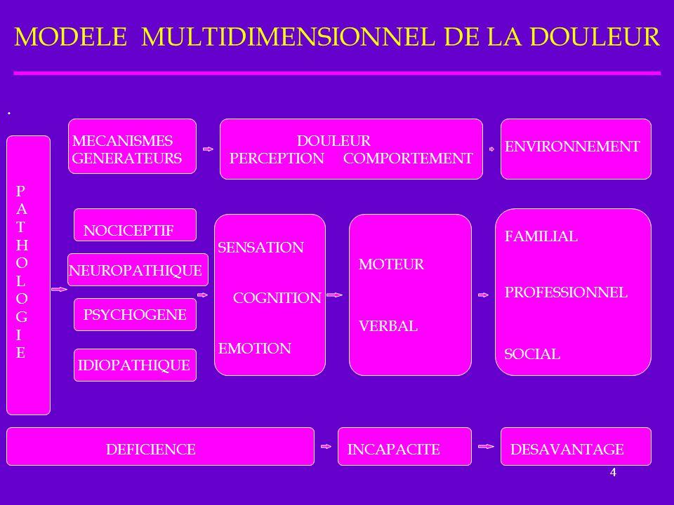 MODELE MULTIDIMENSIONNEL DE LA DOULEUR