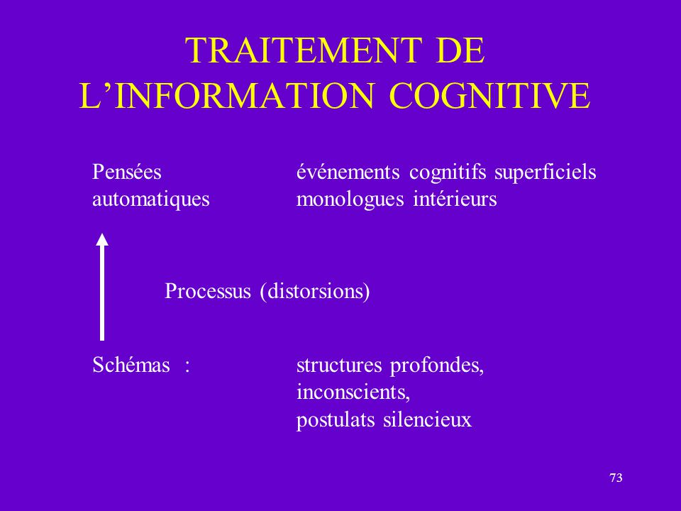 TRAITEMENT DE L'INFORMATION COGNITIVE