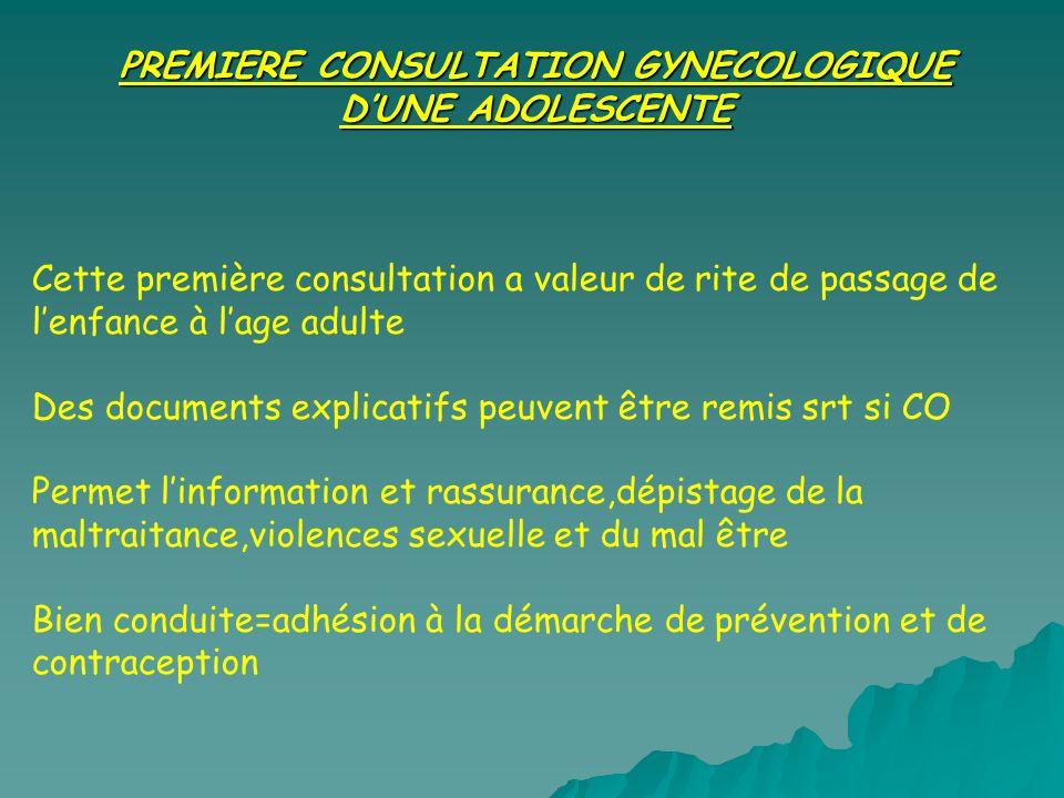 PREMIERE CONSULTATION GYNECOLOGIQUE