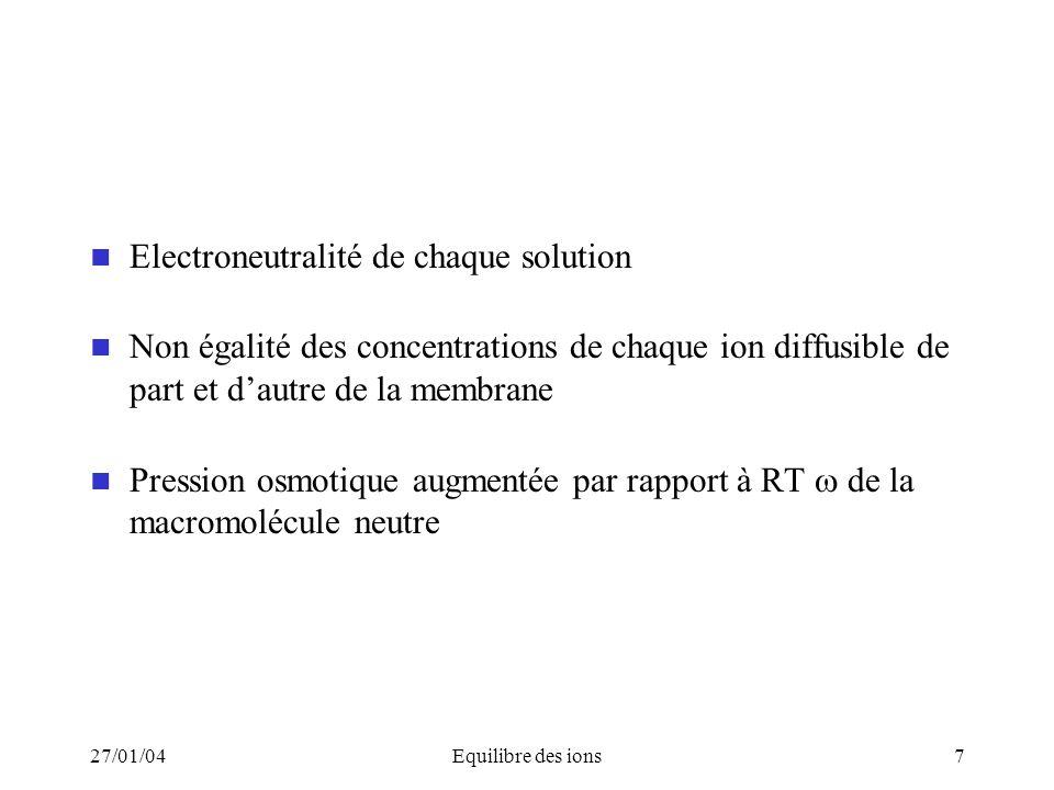 Electroneutralité de chaque solution