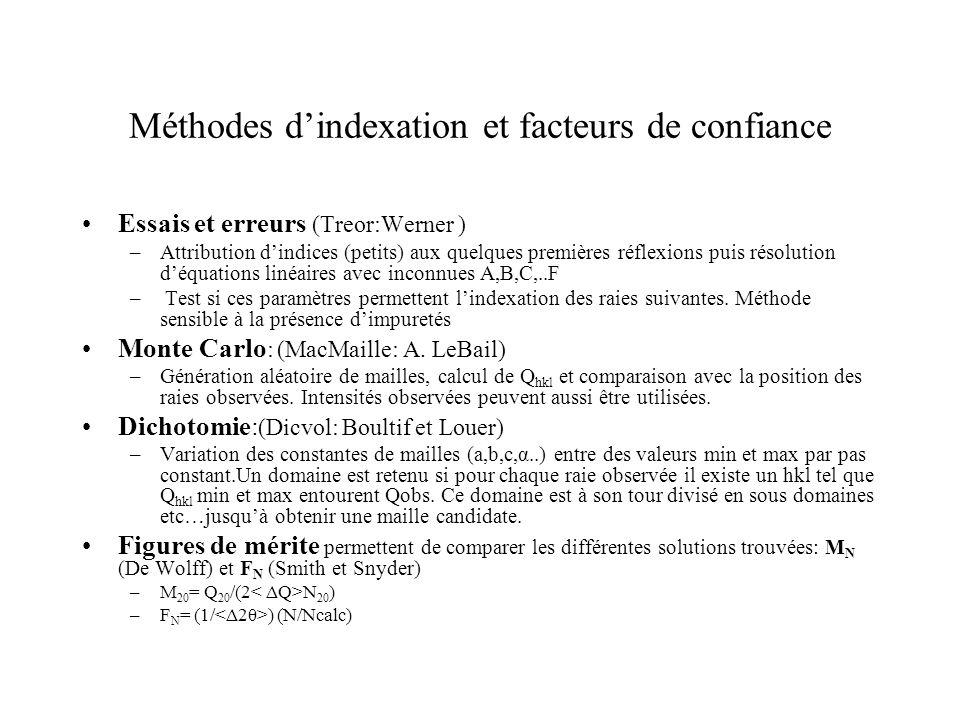 Méthodes d'indexation et facteurs de confiance
