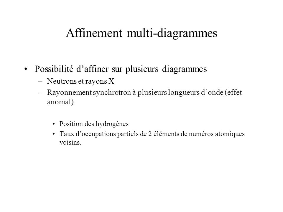 Affinement multi-diagrammes