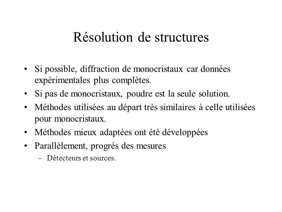 Résolution de structures