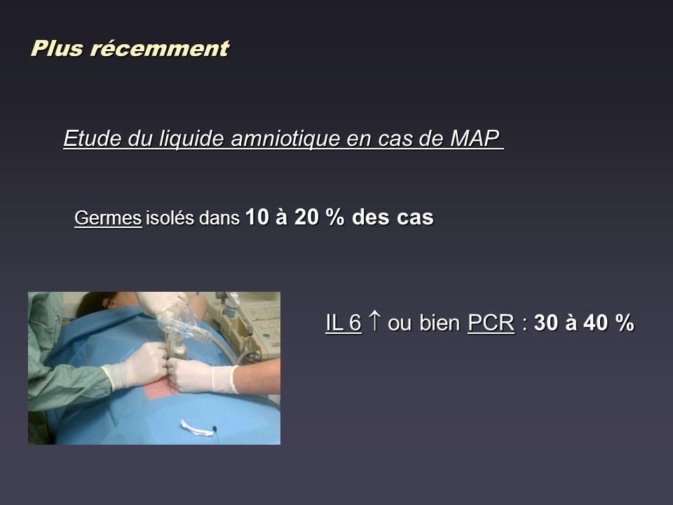 Etude du liquide amniotique en cas de MAP